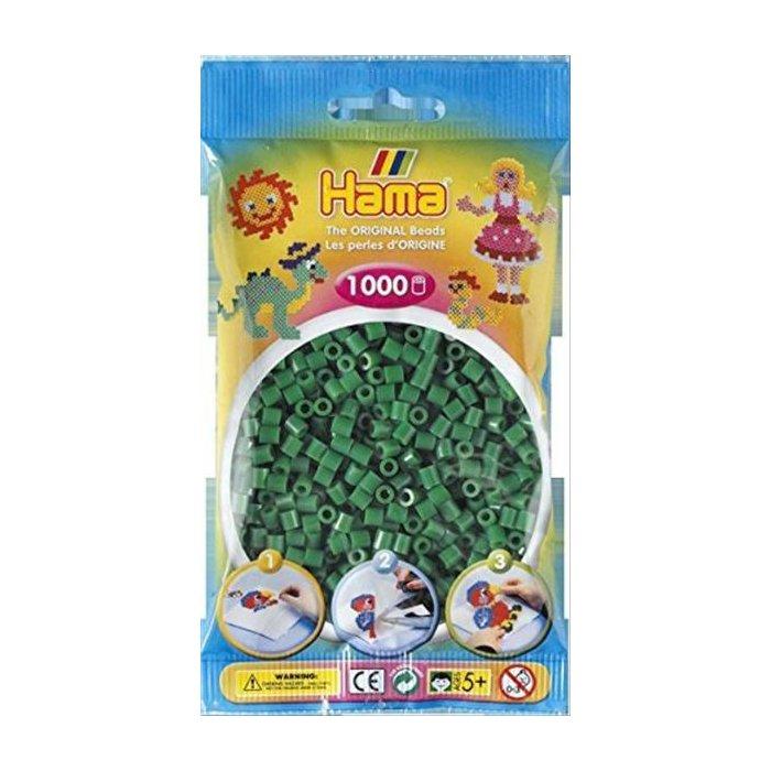 Hellgrün Hama Perlen 1.000 Stück