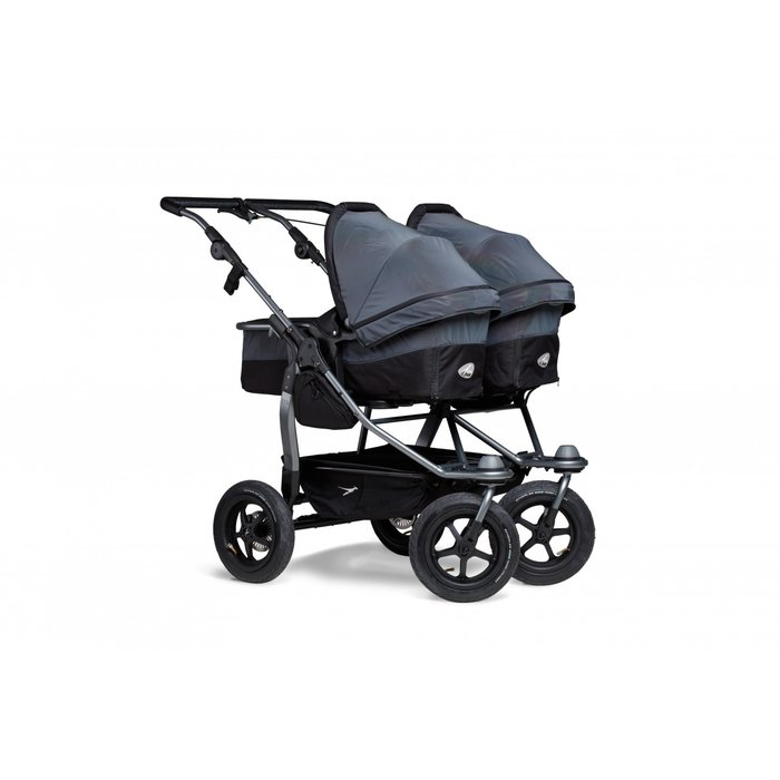 TFK - duo - Zwillings/Geschwister-Kinderwagen GLOW IN THE DARK (Luftreifen)