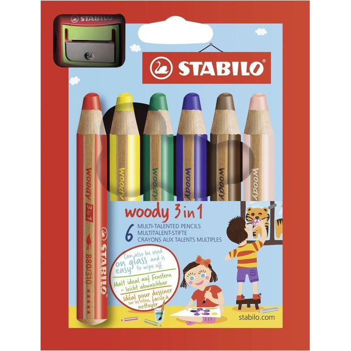 Stabilo - Woody 3 in 1 + Spitzer