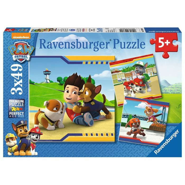 Ravensburger - Paw Patrol Helden mit Fell PUZZLE (3 x 49 TEILE)